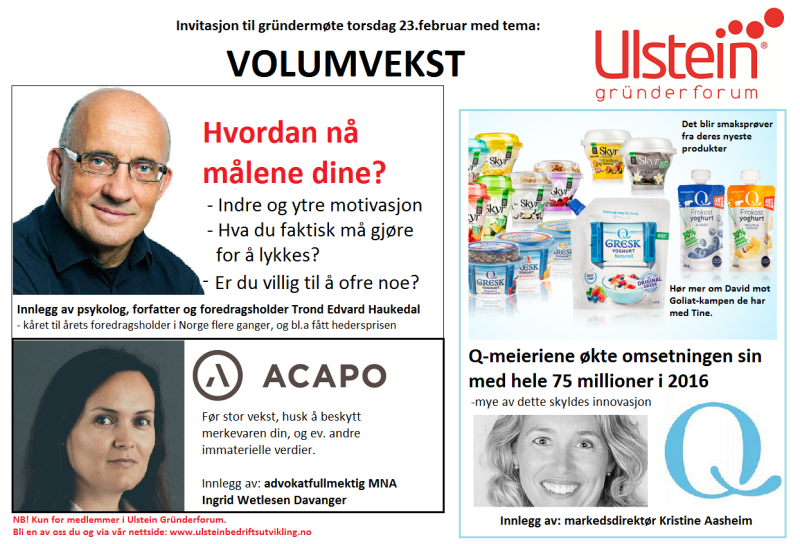 Ulstein Grunderforum 23 feb VOLUMVEKST